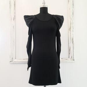 NWT Staple Little Black Mini Pleated Sleeve Dress